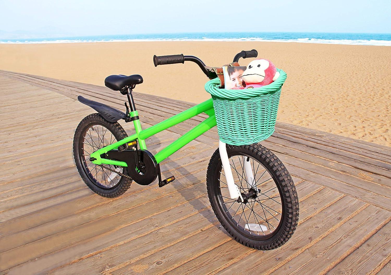 Leather Straps Colorbasket 01488 Junior Front Handlebar Wicker Bike Basket
