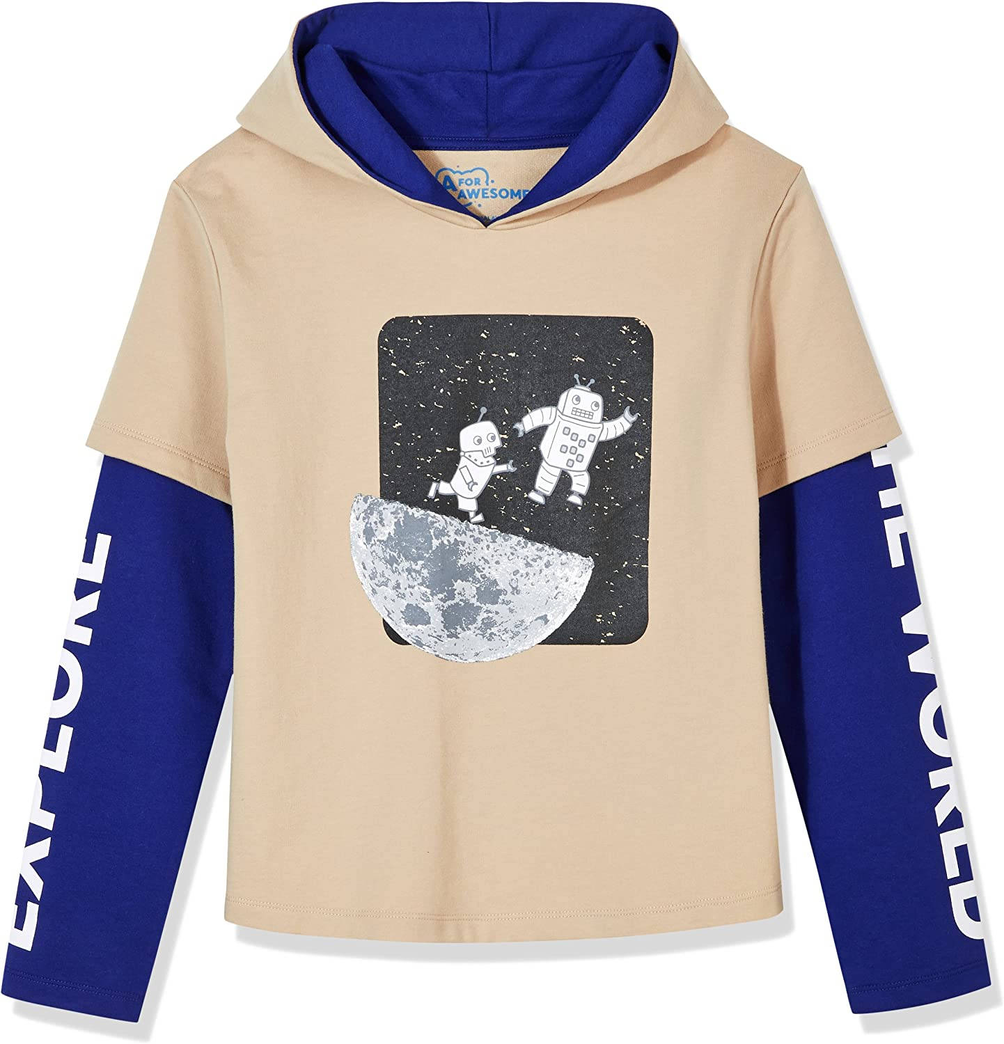 The Childrens Place Boys Big Graphic Hooded Tee Shirt