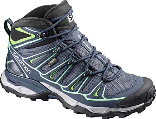 Details about Salomon Womens X Ultra 2 Mid GTX Blue Hiking Ankle Boots Shoes 371524 size 9.5 M