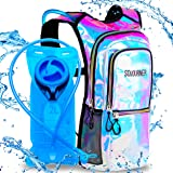 Sojourner Rave Hydration Pack Backpack - 2L Water Bladder Included for Festivals, Raves, Hiking, Biking, Climbing, Running an