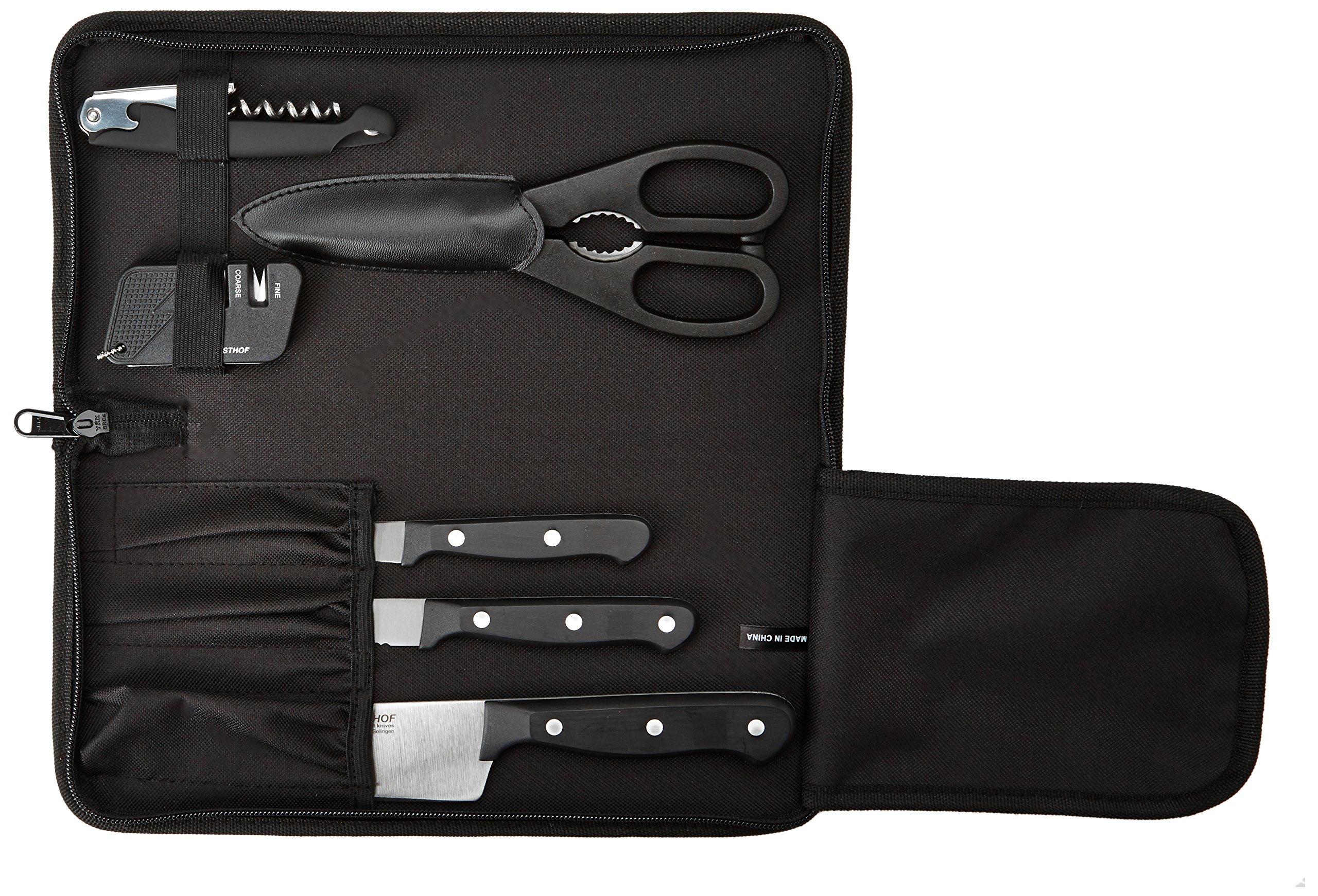 WÜSTHOF Gourmet Seven Piece Traveler Knife Set | 7-Piece German Knife Set with Traveler Case | Precise Laser Cut High Carbon Stainless Steel Kitchen Knife Set - Model 8957