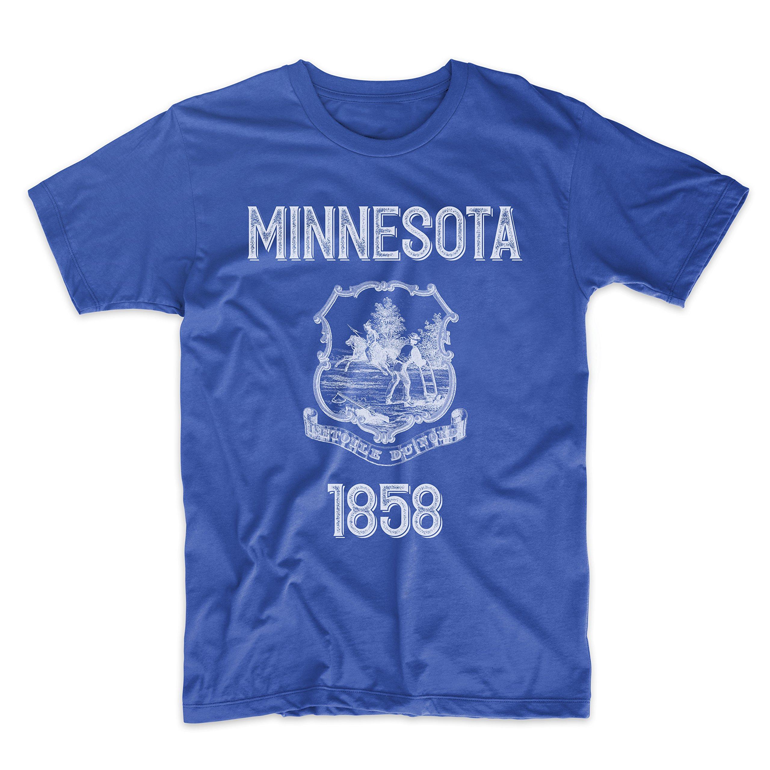 PatentPrints Minnesota Coat of Arms T Shirt