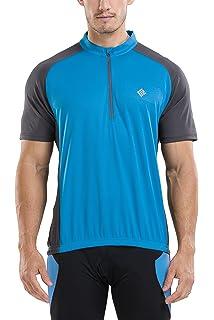 d8c346c6e748 KORAMAN Men s Reflective Short Sleeve Cycling Jersey Quick-Dry Breathable  Biking Shirt