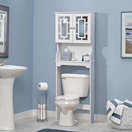 Beau Home Source Industries 5189 Bathroom Space Saver With Shelf And 2 Door Mirrored  Cabinet,