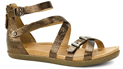 7a371dc6861 UGG Women s Cherie Pony Brown Leather Sandal 7.5 B ...