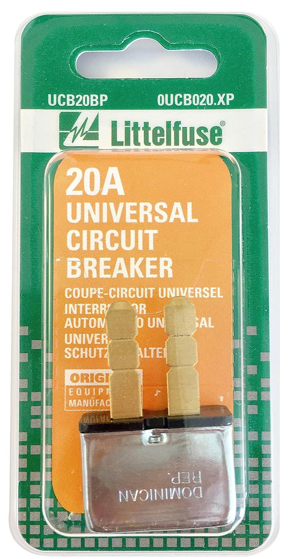 Littelfuse 0UCB020.XP 20 Amp Universal Circuit Breaker