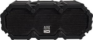 Altec Lansing IMW577-BLK Lifejacket 2 Bluetooth Speaker, IP67 Waterproof, Shockproof, Snowproof, Everything-Proof Rating, 30-Foot Range, 16 Hours Of Battery Life, Black