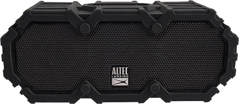Altec Lansing IMW8-BLK Lifejacket 8 Bluetooth Speaker, IP8 Waterproof,  Shockproof, Snowproof, Everything-Proof Rating, 8-Foot Range, 8 Hours Of