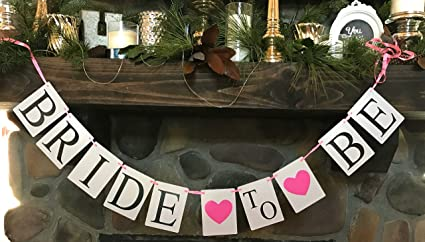 Amazon bride to be banner bunting for your wedding bridal bride to be banner bunting for your wedding bridal shower bachelorette hen party wedding decoration needs junglespirit Gallery