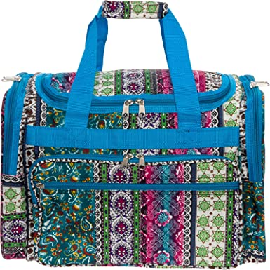 672476747f76 Womens 16 quot  Duffel Carry-On Travel Bag (Bohemian w Turquoise ...