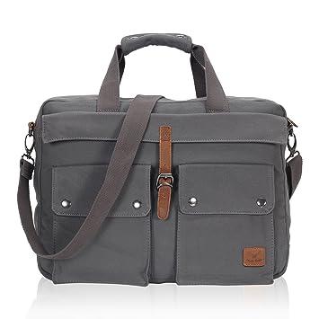 Amazon.com: Hynes Eagle 17-Inch Soft Canvas Laptop Messenger Bag ...