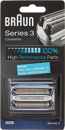 Braun Series 3 32S - Cabezal de Recambio para Afeitadora Eléctrica ...