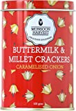 Monsoon Harvest Buttermilk & Millet Crisp Baked Crackers - Caramelised Onion, 100 Grams
