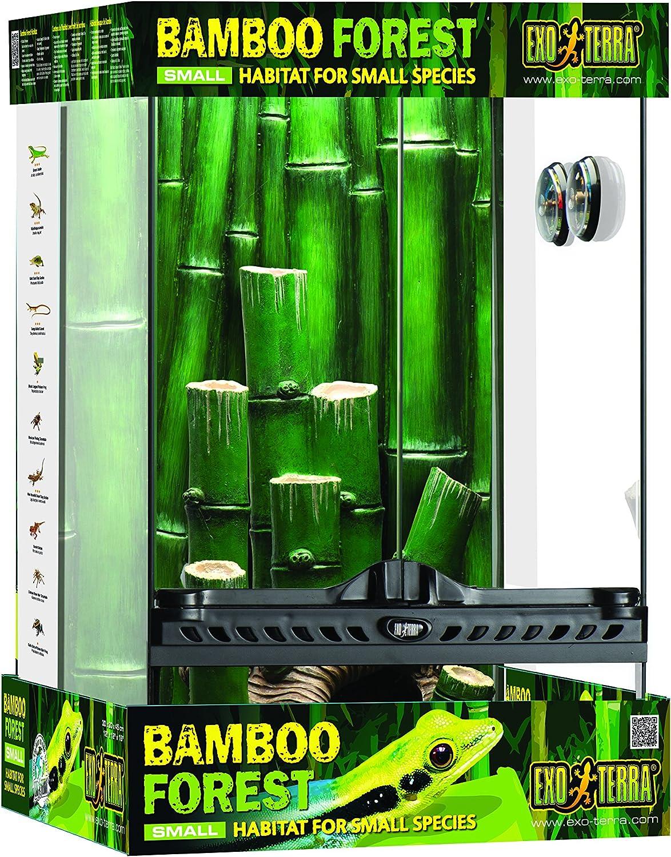 Exoterra EX T Bamboo Forest Habitat Terrarium pour Reptile//Amphibien Taille L