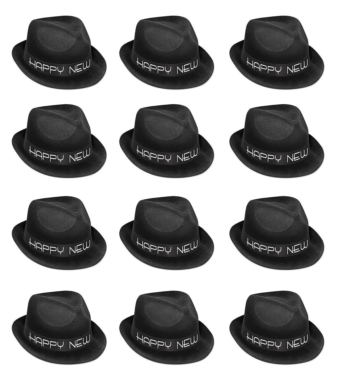 Black//White black Beistle 88106-BK25 25Piece Chairman Hat