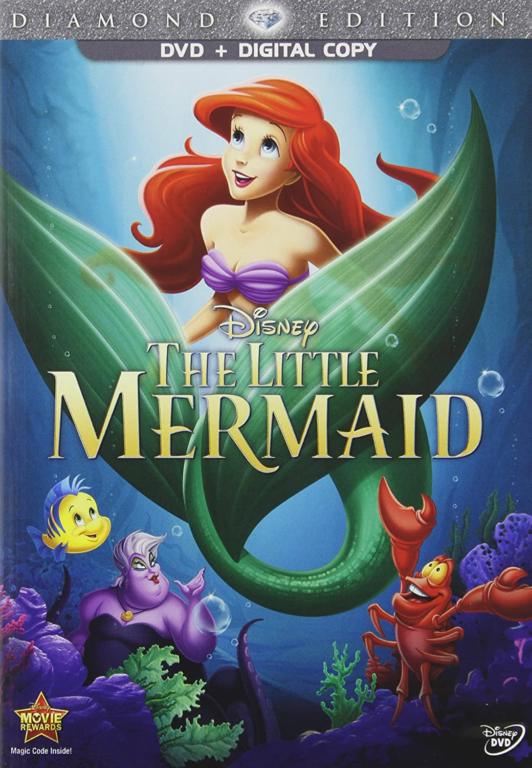 amazoncom the little mermaid diamond edition dvd digital copy rene auberjonois christopher daniel barnes jodi benson pat carroll paddi edwards