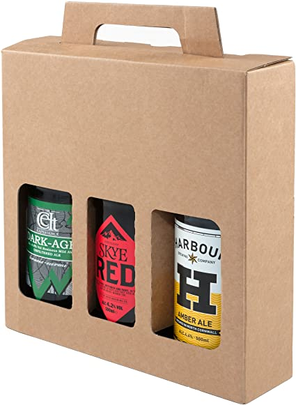 Botella de cerveza y sidra, caja de cartón resistente para 3 botellas de 500 ml – un