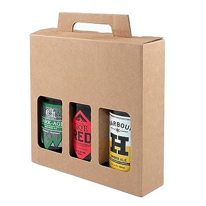 Botella de cerveza y sidra, caja de cartón resistente para 3 botellas de 500 ml