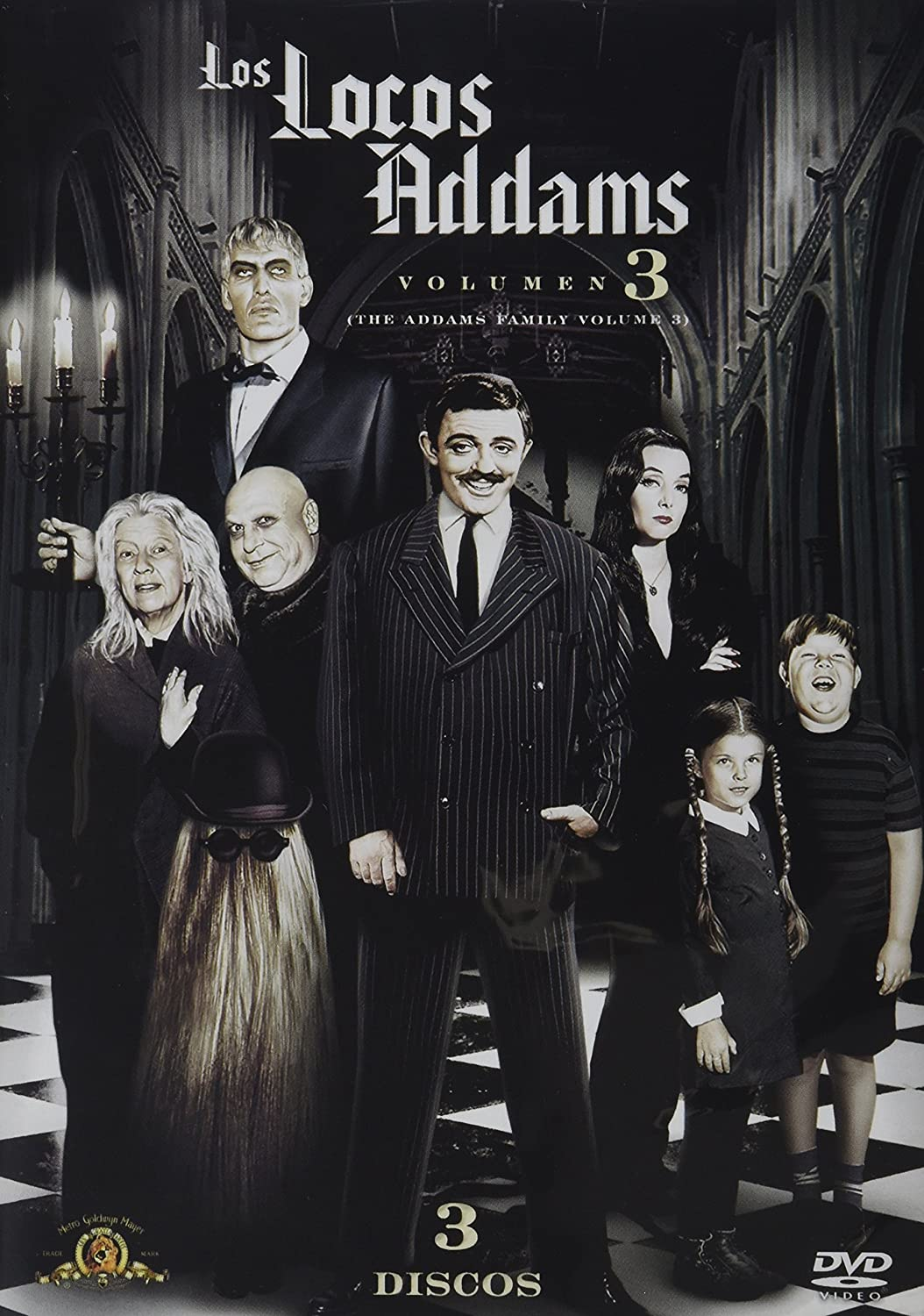 The Addams Family Volume 3 Los Locos Addams Volumen 3 Ntsc Region 1 4 Dvd Import Latin America Tv Series 1964 1966 3 Discs Subtitles English Spanish Portuguese Movies Tv