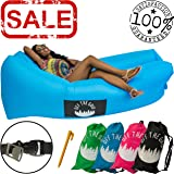 Inflatable Lounger - Air Wind Chair Hammock - Floating/Portable Sofa Bed for Beach, Pool Camping, Outdoors - Off the Grid Lazy Bag Cloud Couch