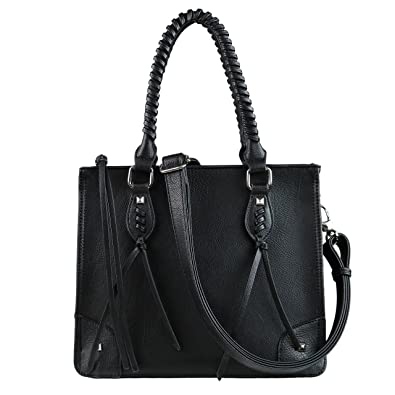 Concealed Carry Weapon Purse - YKK Locking Amy Studded Satchel by Lady  Conceal (Black) 28faf6a80ce9e