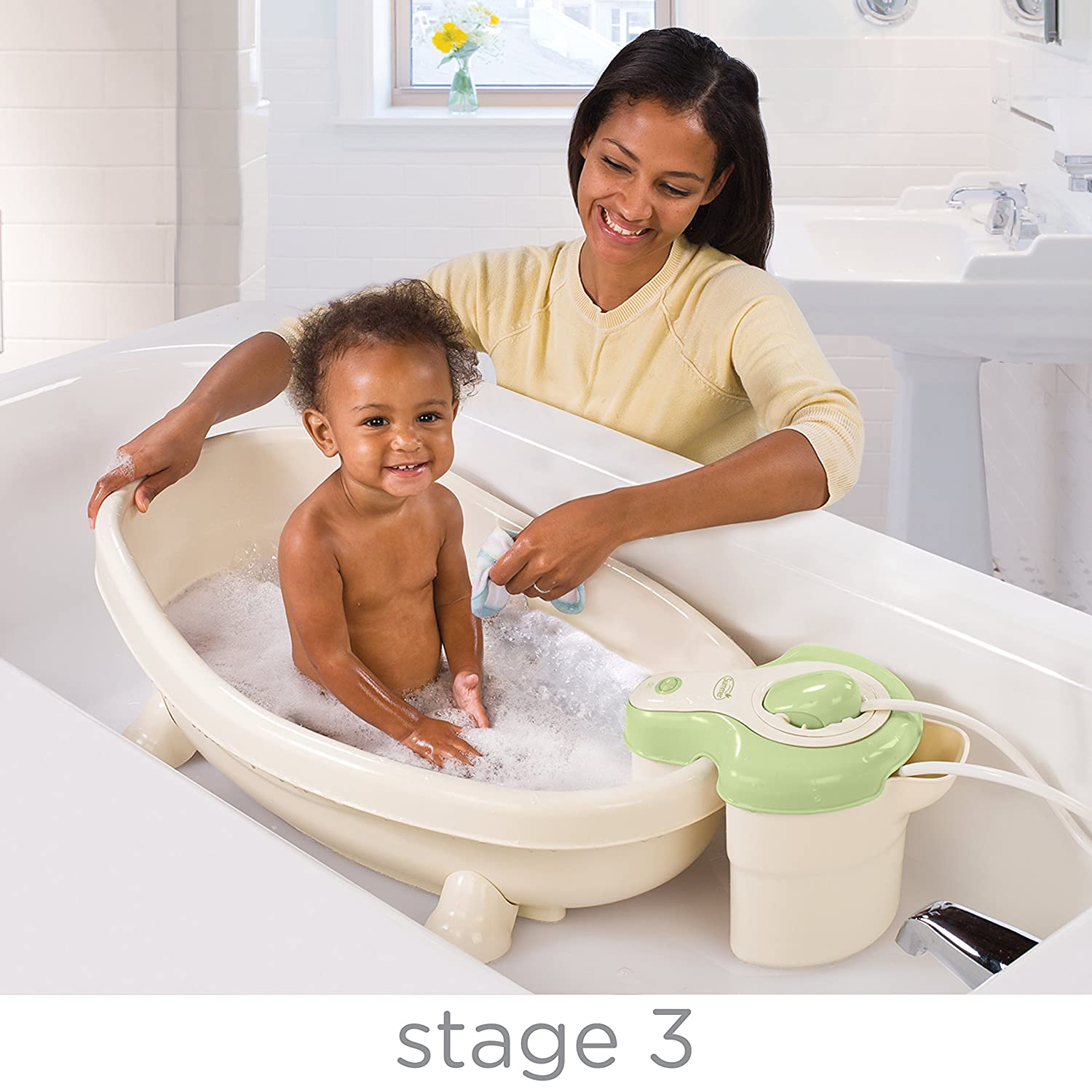 Amazon.com : Summer Infant Soothing Spa and Shower Baby Bath : Baby ...