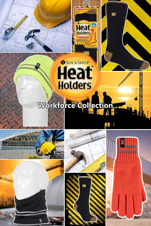 Homme chaud hiver travail n/éon reflechissant cache cou /écharpe HEAT HOLDERS