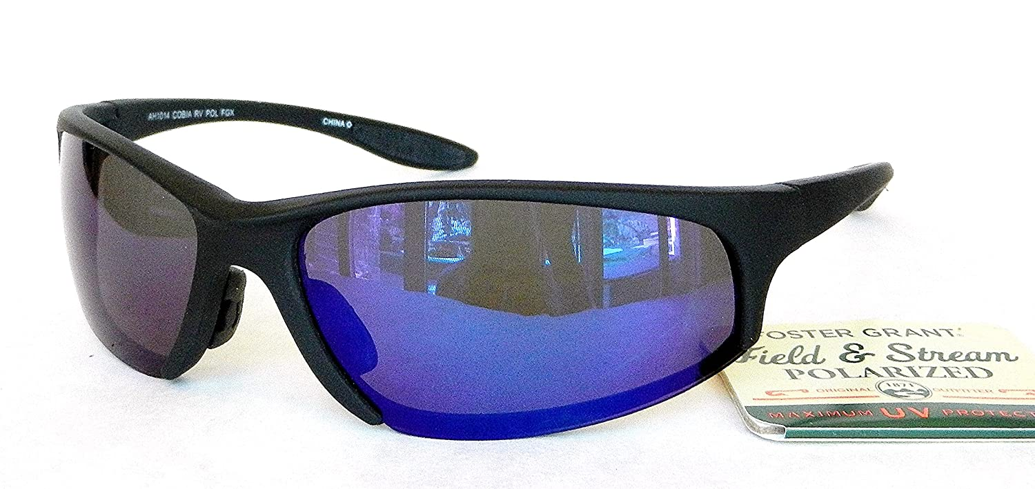 1f021785b43 Amazon.com  Foster Grant Field   Stream Polarized Mens Blue Mirrored  Sunglasses (1439) 100% UVA   UVB Protection+ FREE BONUS MICROSUEDE CLEANING  CLOTH  ...