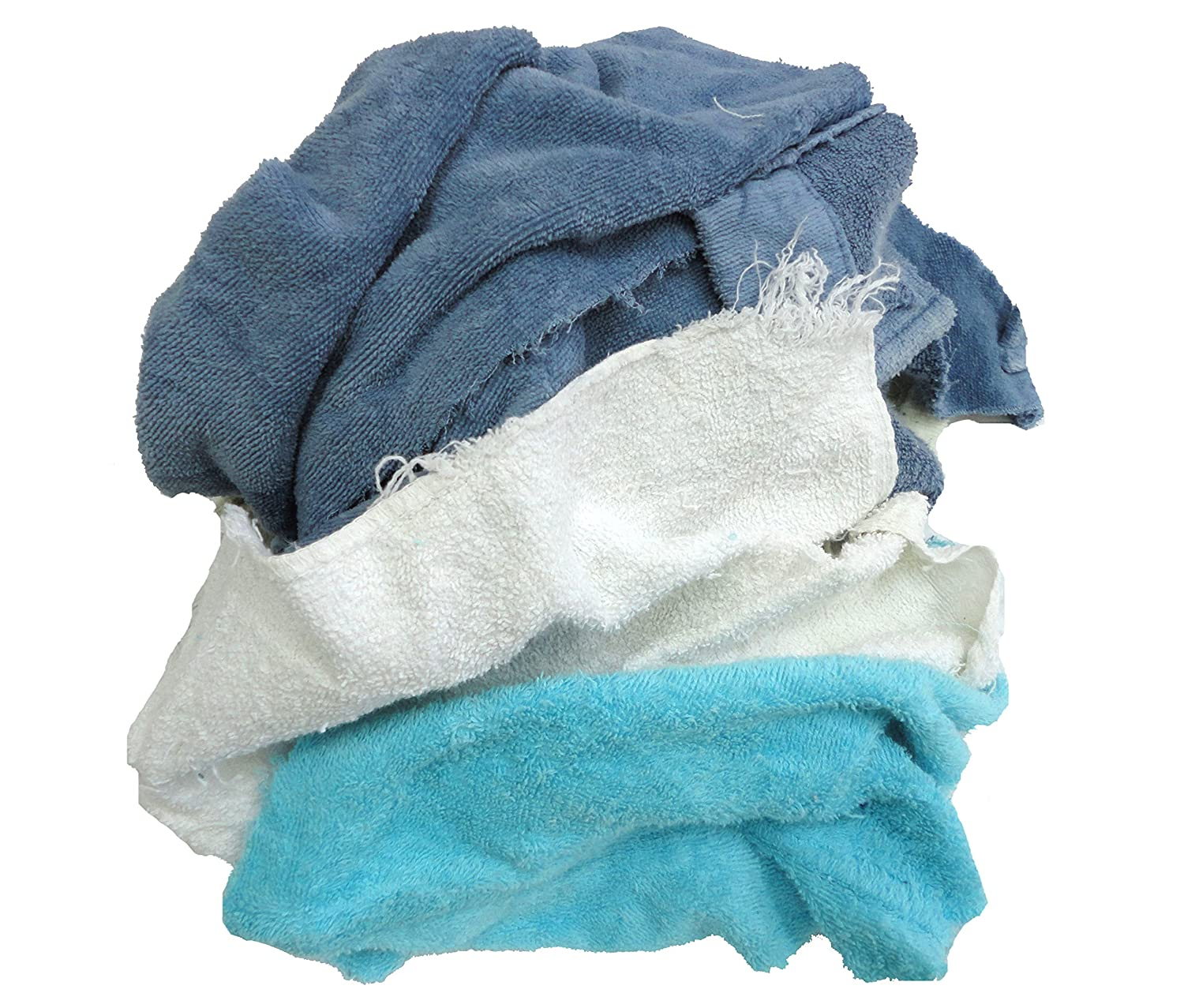 Pro Clean Basics Colored Terry Cloth Rags 3 lb. Bag