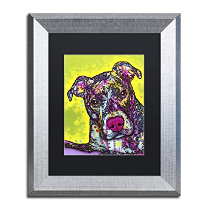 Amazoncom Trademark Fine Art Brindle By Dean Russo Black