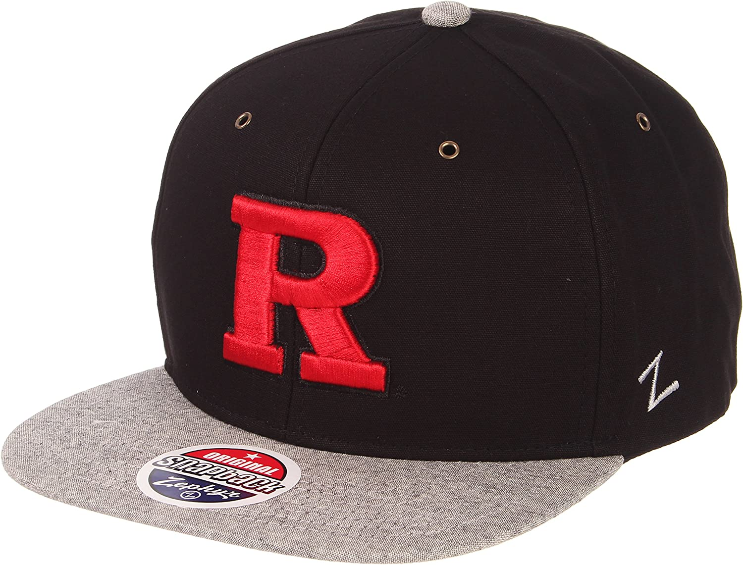 NCAA Zephyr Rutgers Scarlet Knights Mens Z11 Static Snapback Hat Black//Team Color Adjustable