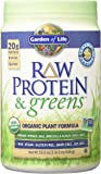 Garden of Life Greens and Protein Powder - Organic Raw Protein and Greens with Probiotics/Enzymes, Vegan, Gluten-Free, Vanilla, 19.3oz (1lb 30 oz/548g) Powder