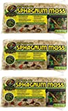 Zoo Med 3 Pack New Zealand Sphagnum Moss.33-Pound each