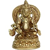 Lord Kuber Brass Statue for Home Temple - Home Decoration - | gift for home warming | decorative items for living room | christmas decorations|Hand made| Home Decor| Best Handicrafts | Decorative | Gift item | Showpiece|