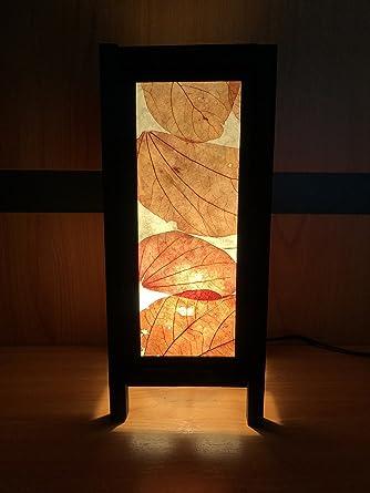 Craft Leaves Orange Japanese Lamp Decorative Thailand Handmade Art