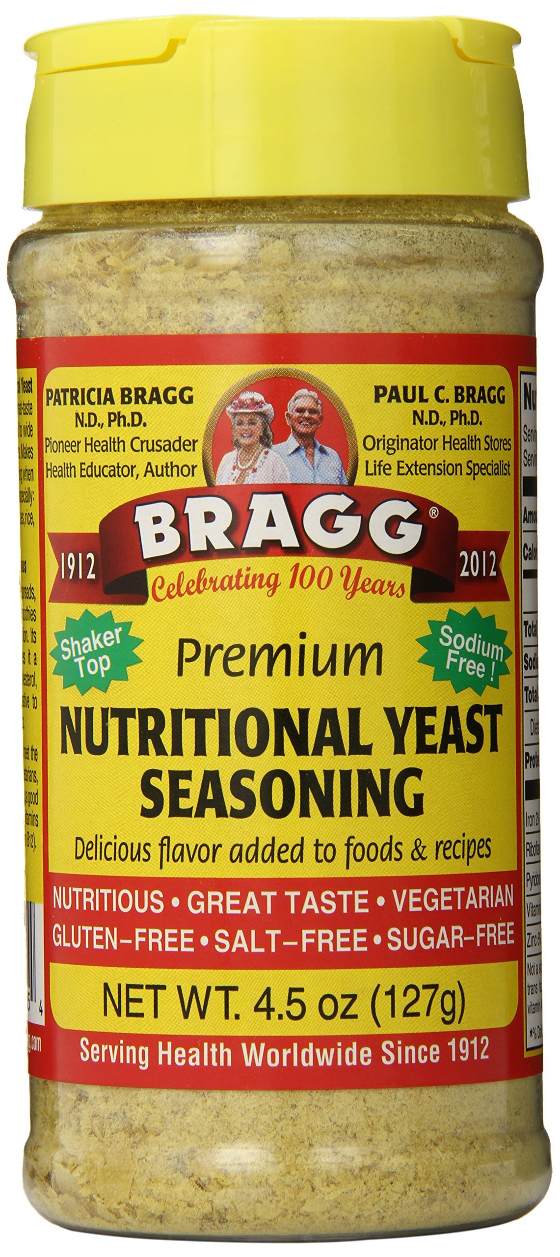 Bragg Premium Nutritional Yeast Seasoning 4.5 Ounce by Bragg (Image #1)