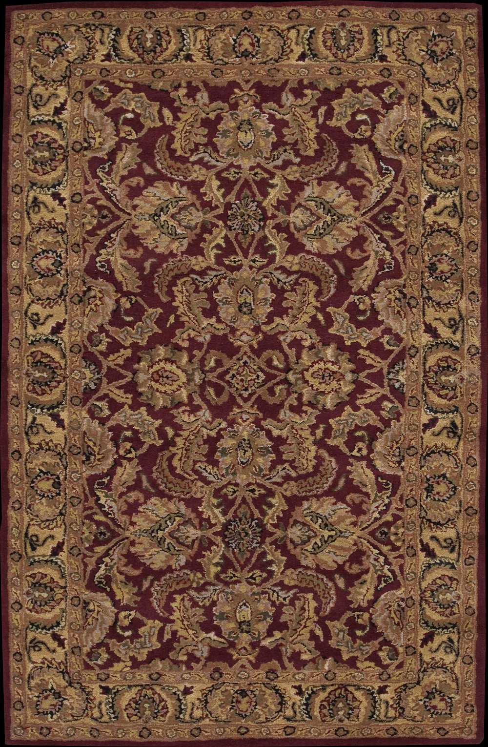 Nourison Rugs India House Collection IH17 Burgandy Rectangle 5' x 8' Area Rug