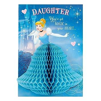 Hallmark Cinderella Daughter Birthday Card 3d Honeycomb Medium