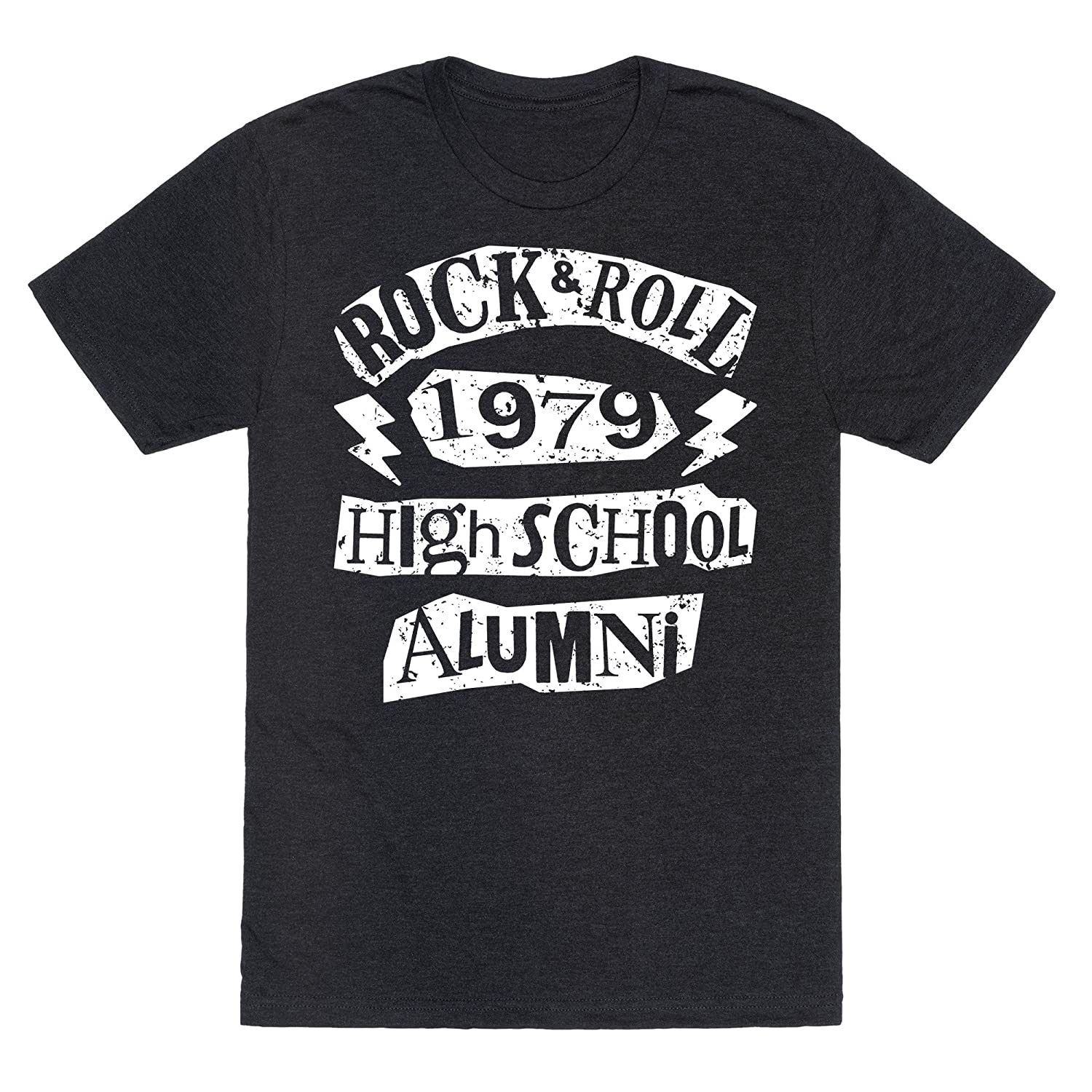 d3ccc062c Amazon.com: LookHUMAN Rock and Roll High School Alumni Mens/Unisex Fitted  Triblend Tee Heathered Black: Clothing