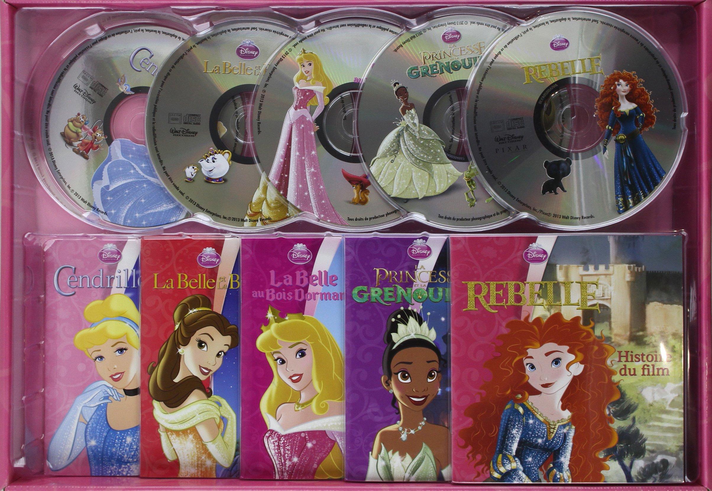 Amazon Fr Mon Coffret Livres Cd Princesses 5cd Audio
