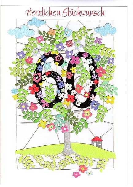 excepcional tarjeta de felicitación para 60 cumpleaños ...