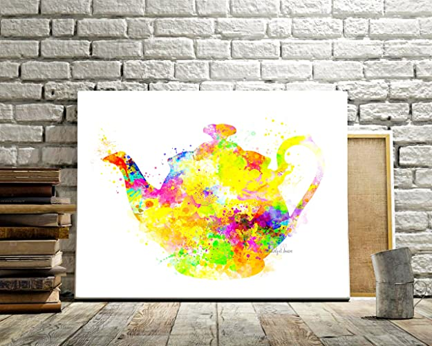 Amazon.com: Kitchen Print, Home Decor, Teapot, Contemporary Art, Pop ...