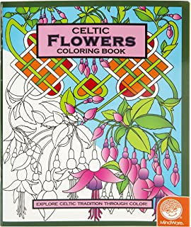 mindware celtic flowers coloring book 24 total designs teaches creativity and fosters imagination - Mosaic Coloring Book