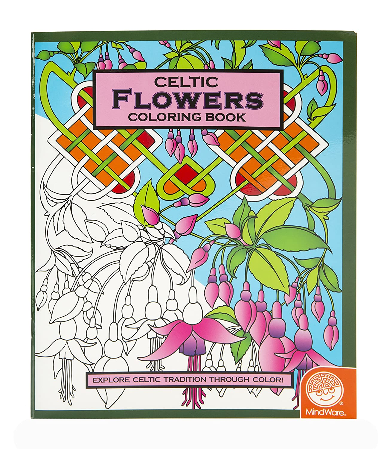 amazoncom mindware celtic flowers coloring book 24 total designs teaches creativity and fosters imagination toys games - Mosaic Coloring Book