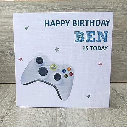 Tarjeta de cumpleaños personalizable para hombre, diseño de ...