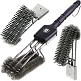 """Alpha Grillers 18"""" Grill Brush. Best BBQ Cleaner. Safe For All Grills. Durable & Effective. Stainless Steel Wire Bristles And Stiff Handle. A Perfect Gift For Barbecue Lovers."""