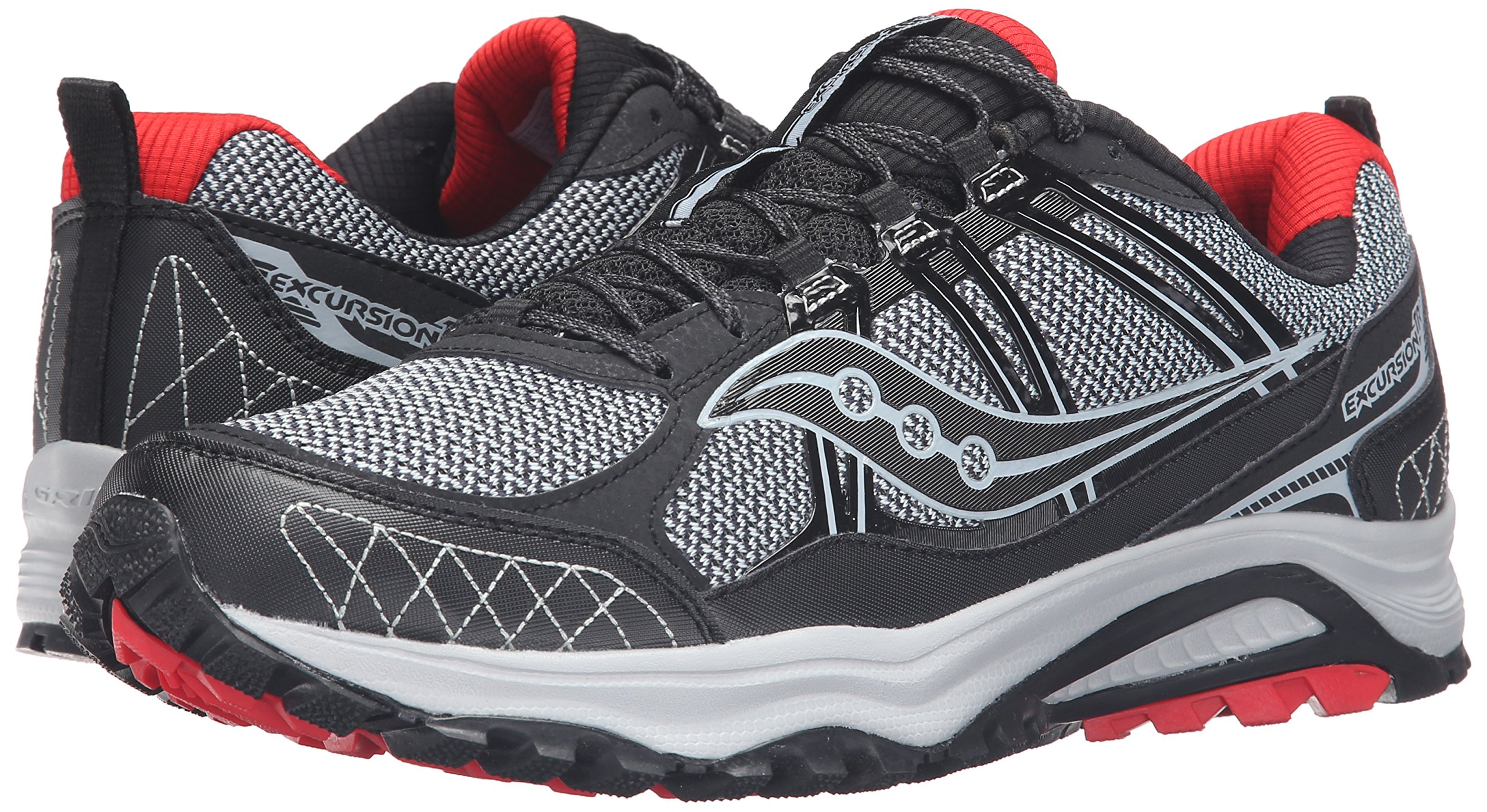 Saucony Men's Grid Excursion TR10 Running Shoe, Grey/Black/Red, 8 M US by Saucony (Image #6)