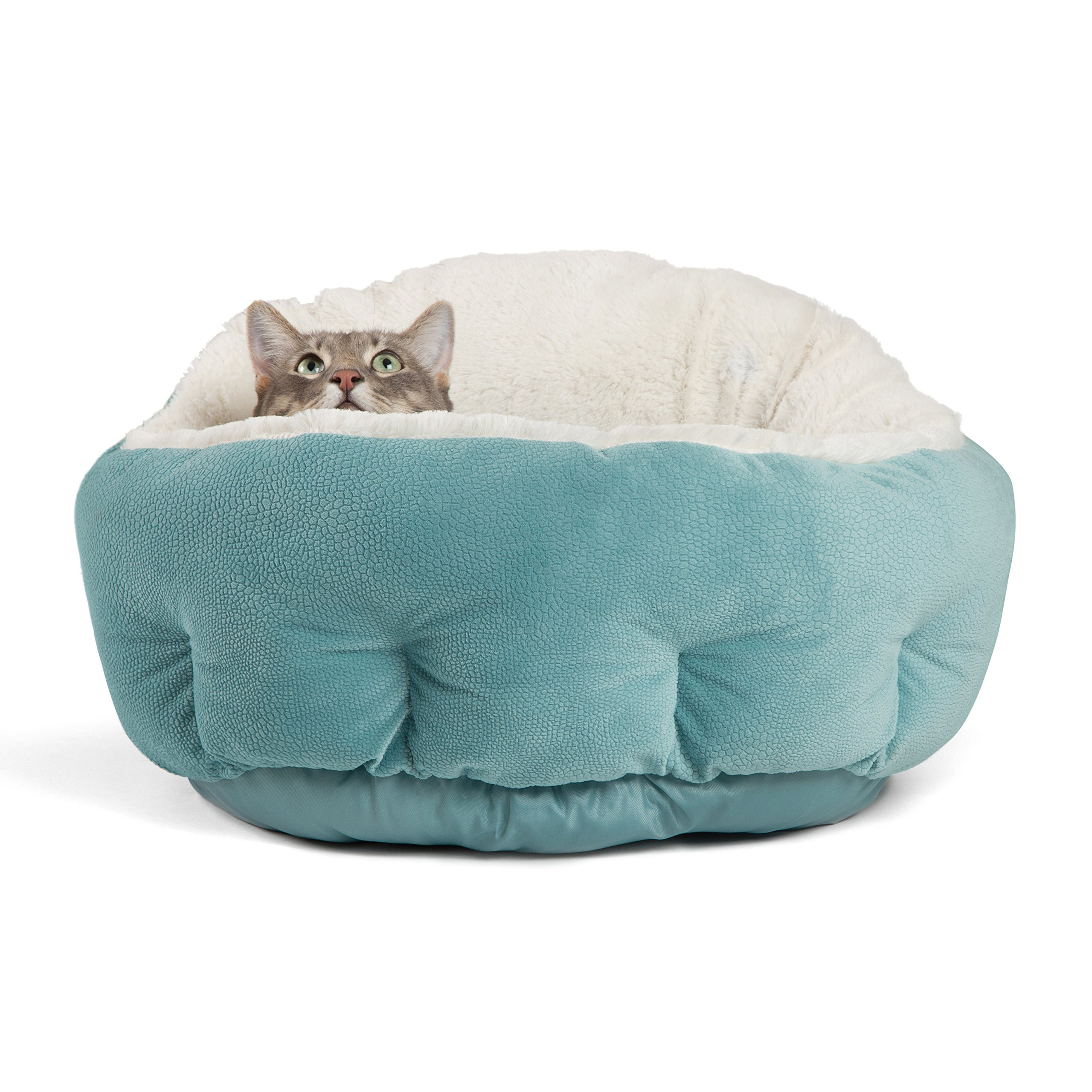 Best Friends by Sheri OrthoComfort Deep Dish Cuddler - Self-Warming Cat and Dog Bed Cushion for Joint-Relief and Improved Sleep - Machine Washable, Waterproof Bottom - For Pets Up to 25lbs