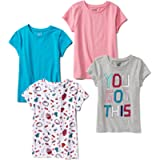 Amazon Brand - Spotted Zebra Girls' Short-Sleeve T-Shirts