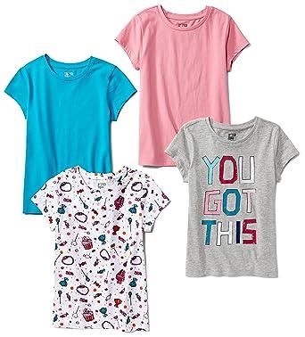 45550cd4505 Amazon.com  Spotted Zebra Girls  4-Pack Short-Sleeve T-Shirts  Clothing
